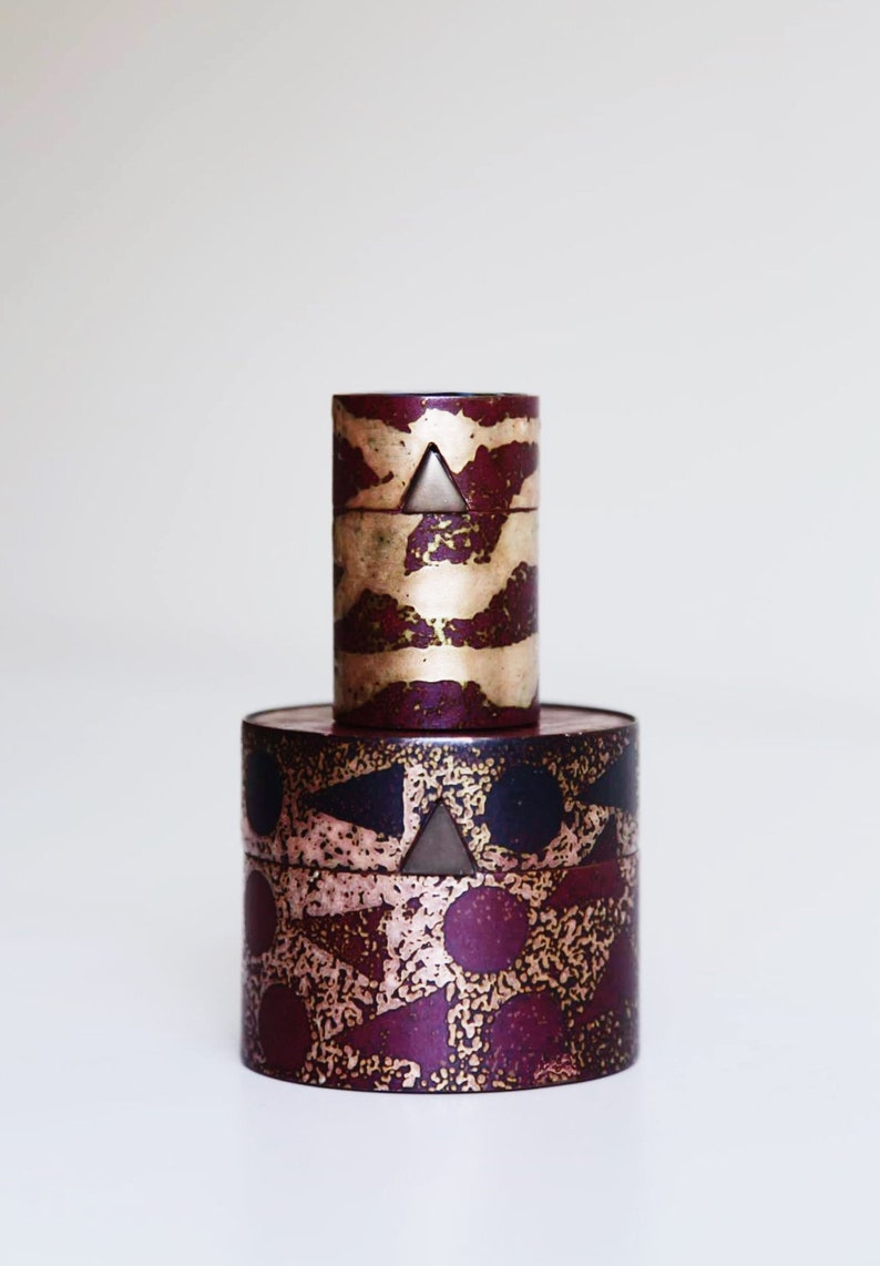 Set of 2 Hand Made Trinket  Jewelry Boxes