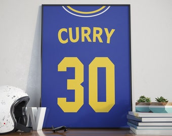 5213c278ec6 Stephen Curry, Printable Jersey, Golden State Warriors, Curry Shirt, Curry  Poster, Warriors Poster, Golden State, NBA Poster, NBA, Curry