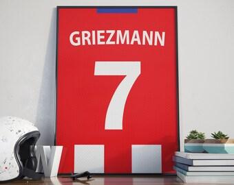 cheap for discount 28950 b4780 france atletico madrid shirt antoine griezmann 7 jersey mens ...