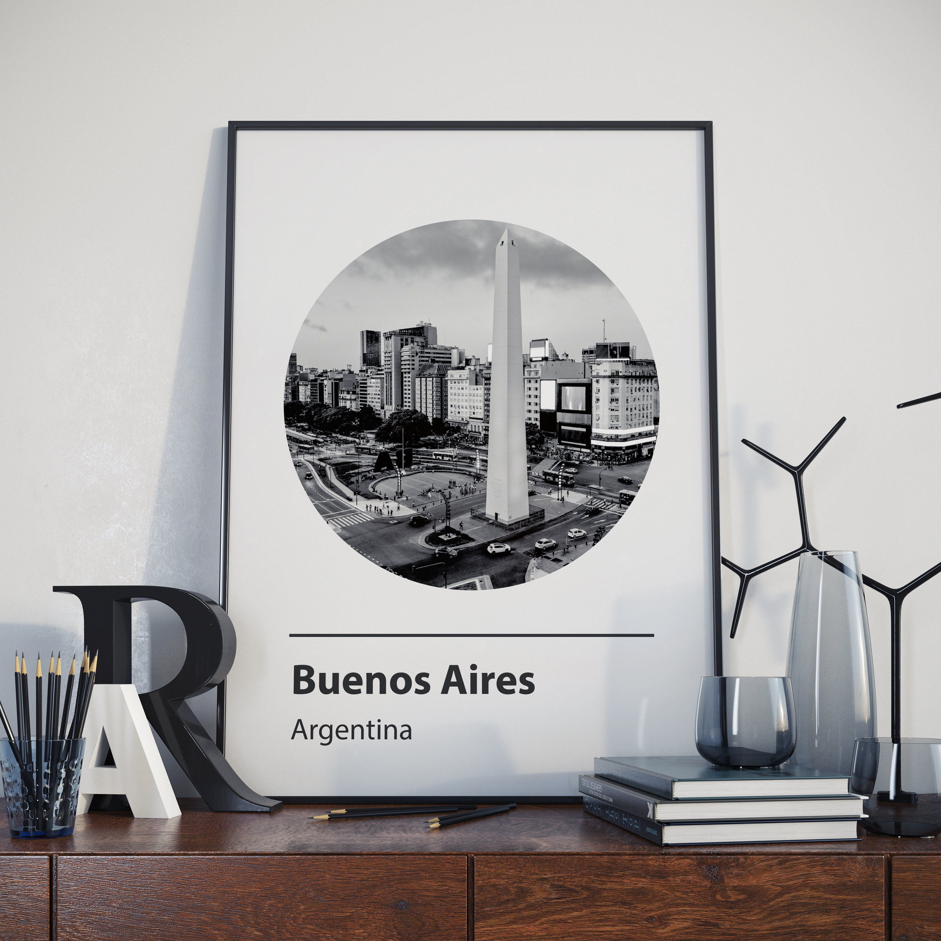 Buenos Aires City Minimalist Buenos Aires Argentina Instant Download Buenos Aires Poster Black and White Buenos Aires Printable Wall Art