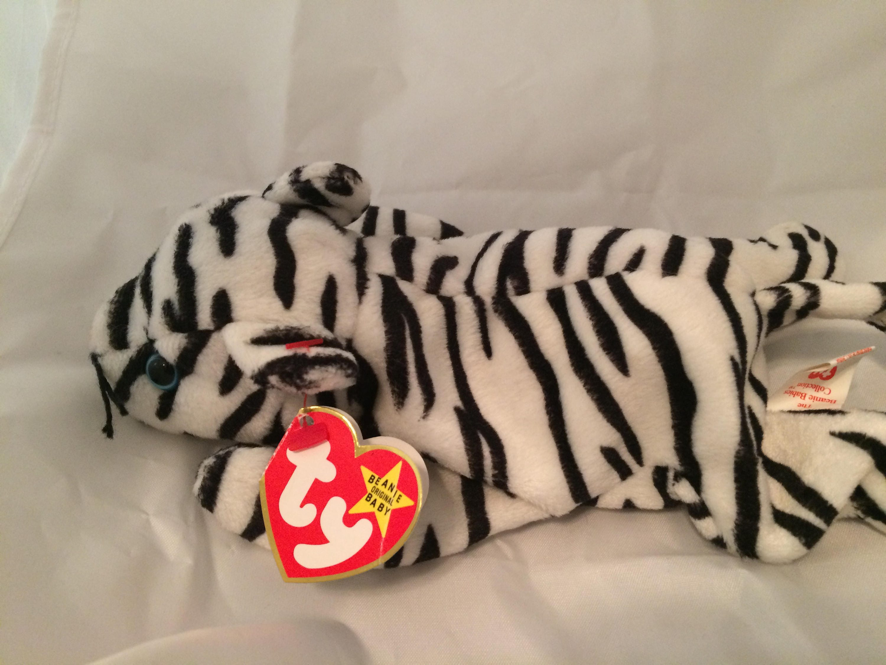 bd5bc8bd24a Ty Beanie Baby Blizzard the Tiger Fourth Generation MWT