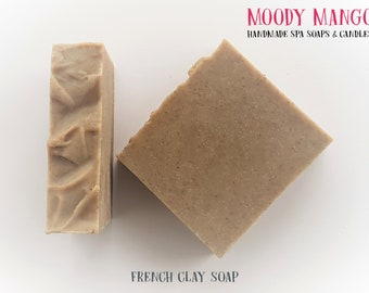 No3. Handmade 'FRENCH CLAY' Soap - Woody Scent