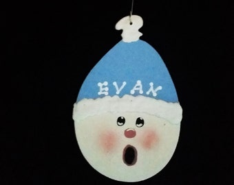 Hand-Painted Personalized Snowman Ornaments
