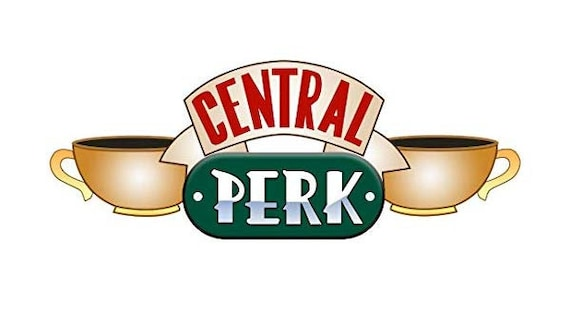 Central Perk Logo - Central perk sticker television show ...