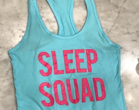 Sleep Squad Lounge Aqua Blue Flowy Tank Top