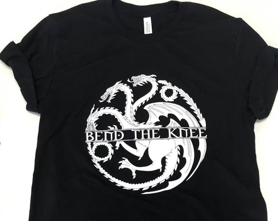Game of Thrones t shirt ,  Bend The Knee T Shirt , Daenerys & John Snow , All for the throne t shirt