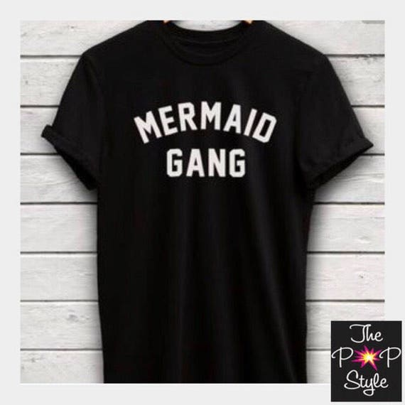 Mermaid Gang T Shirt Ringspun softness Beach Tee