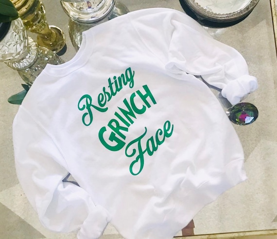 Resting Grinch  Face soft and Cozy unisex Pullover