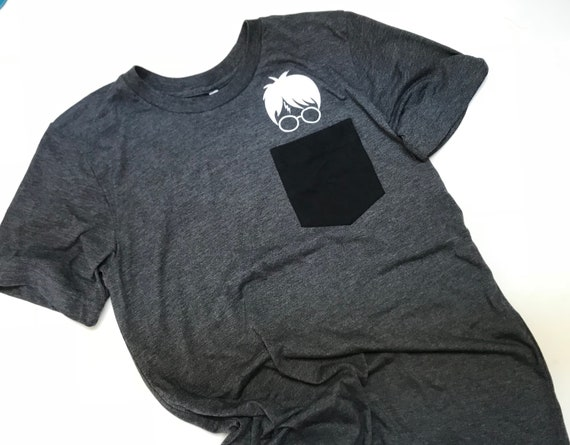 Wizard Printed Pocket T Shirts Dark Grey Unisex Fit