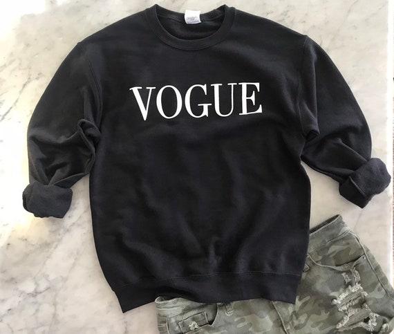 VOGUE sweatshirt pullover black fashion statement shirt