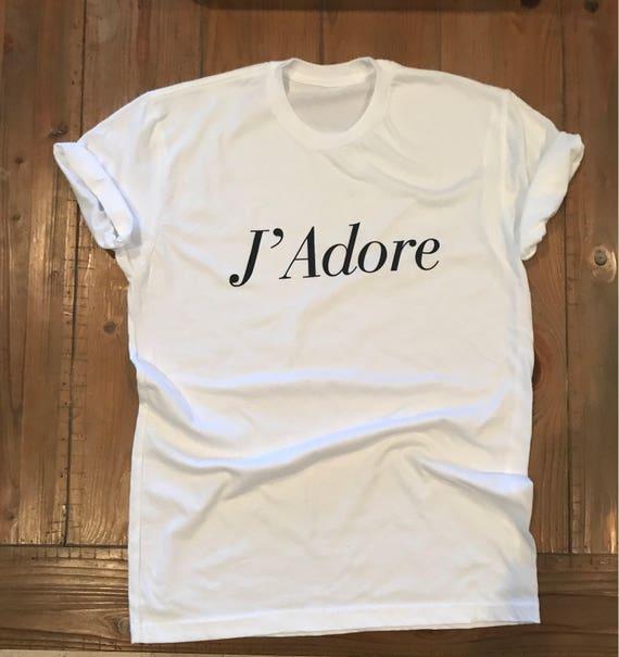 J Adore Love Boyfriend Fit White Tee T Shirt Valentines day