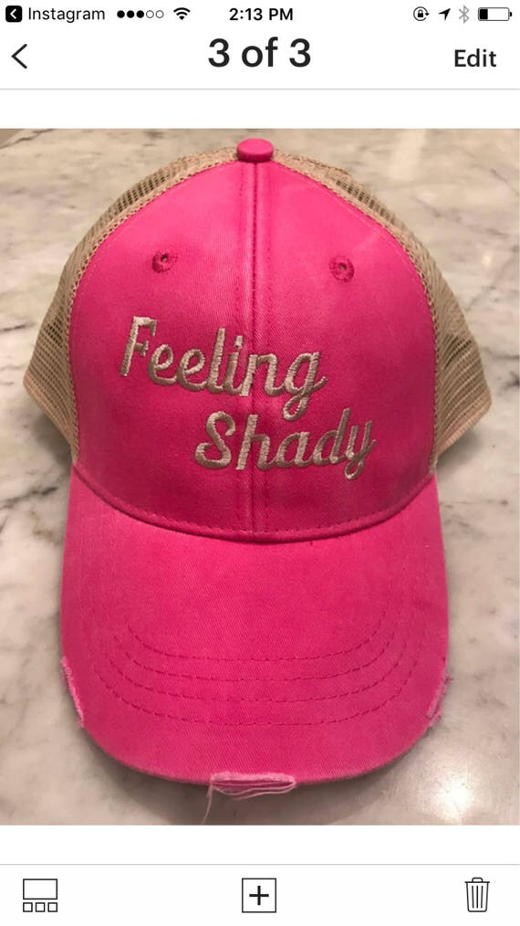 Feeling Shady Hot Pink Distressed Trucker Hat