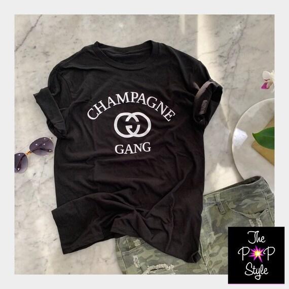 Champagne Gang T Shirt , Brunch shirt , Girls Trip Shirt