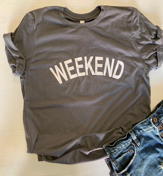 Weekend Casual Chic Grey Tee Unisex T Shirt
