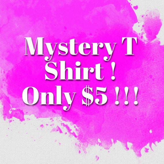 A Fun Unisex Mystery T Shirt from our collections