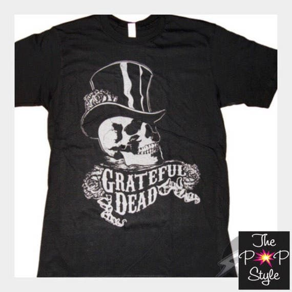Grateful Dead Skull and Top Hat Unisex Black Ringspun T shirt Dead Company