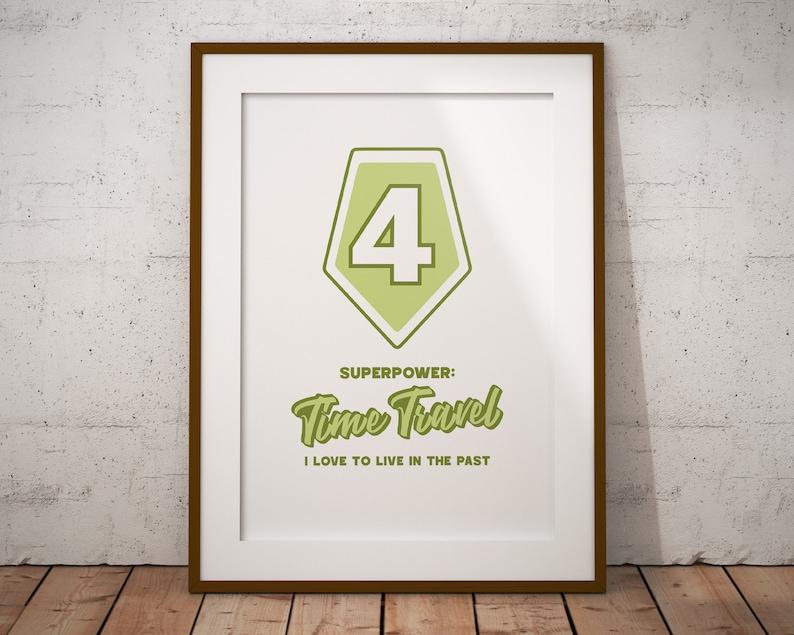 Enneagram 4 Superpower | Time Travel | Printable Poster Art for Home or  Office | Enneagram Gift