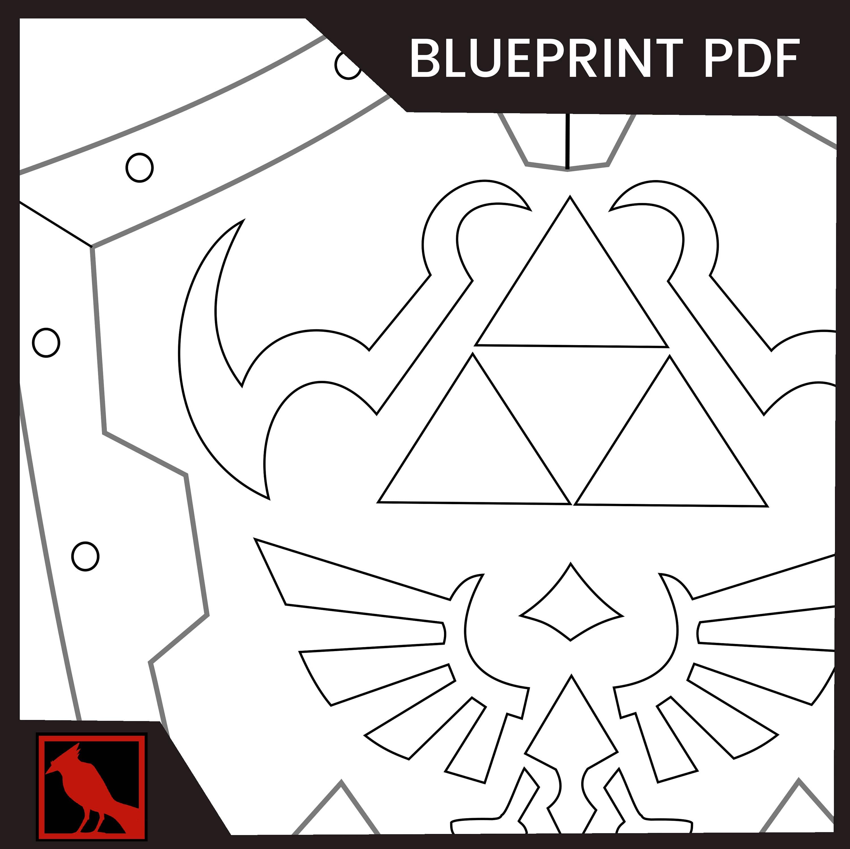 Hylian shield blueprint pdf zoom malvernweather Image collections