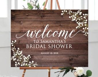bridal shower signs etsy