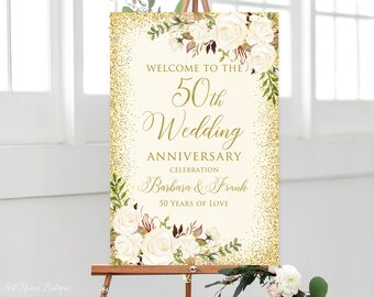 50th Anniversary Decorations Etsy