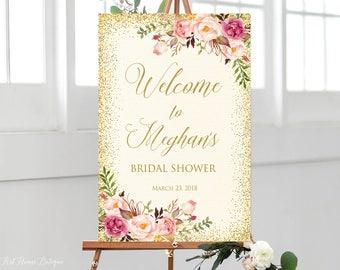 bridal shower welcome sign ivory bridal shower welcome sign large welcome sign ivory welcome sign large poster printable sign w254