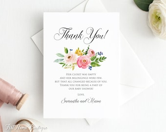 Baby Shower Thank You Cards Etsy