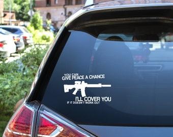 Heavily Armed Anti Gun Control Pro Gun Car Truck Window Laptop Decal Sticker
