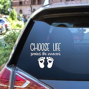 Anti Abortion Decal Footprints Pro Life Bumper Sticker