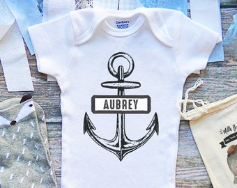 Kinacle I Love Aubrey Personalized Baby//Toddler T-Shirt