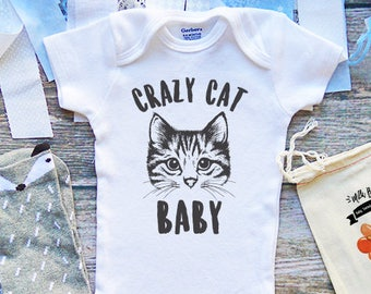 Crazy Cat Baby Onesie® - Show Me Your Kitties - Crazy Cat Lady - Infant & Newborn Clothes - Baby Shower Gifts - Funny Baby Onesies - M348