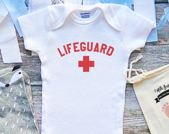 1d6b472c11c Lifeguard Onesies® Baby Clothing - Cute Beach Onesies - Vacation Onesie -  Swimming and Beach Clothes - Summer - Funny Baby Clothing - M351
