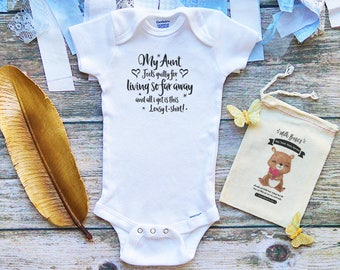My Aunt Feels Guilty Baby Onesie - All I Got is This Lousy T-Shirt - Cute Baby Onesies - Aunt Baby Shirts - Aunt Baby Gifts - Funny - m220