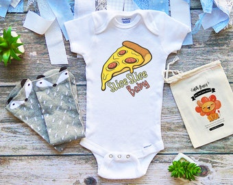 373c5b7a1 Pizza Baby Shirt Onesie Bodysuit, For Baby Boy Girl, Cut Baby Clothes, Funny  Baby Shower Gift, Newborn Shirt, Cute Pizza Baby Clothes, M372