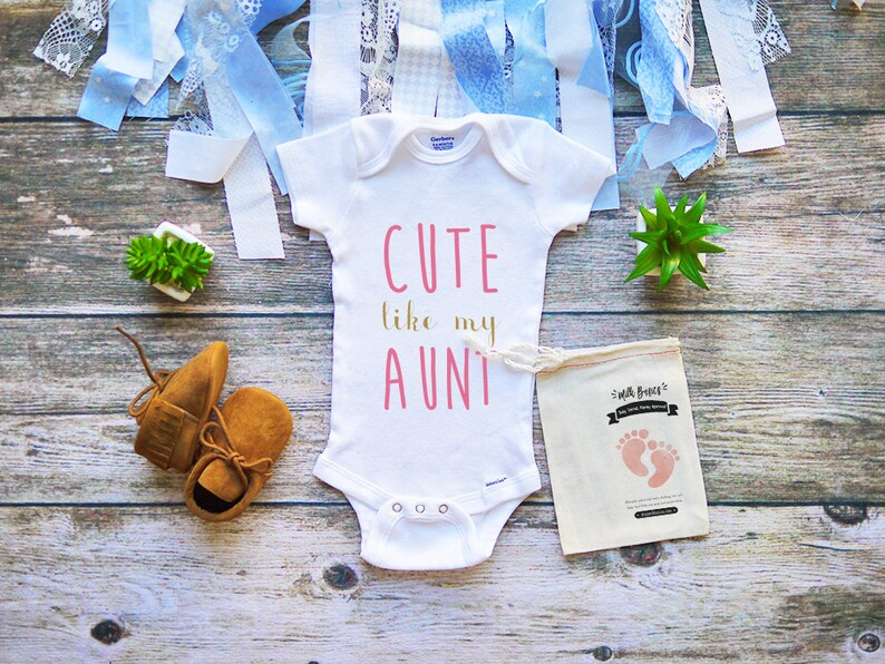 177c00149 Cute Like My Aunt Onesie Cool Aunt Bodysuit Aunt Baby | Etsy