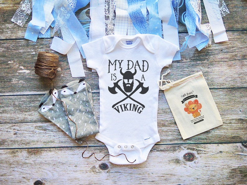 3c2fc4dd6 My Dad is a Viking Onesie Dad Onesies Cool Dad Baby | Etsy