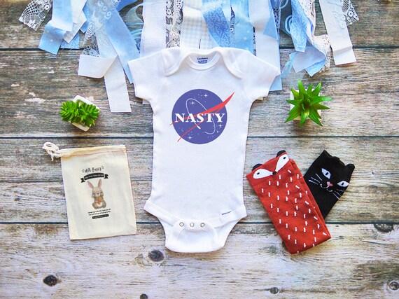 d9dbe79fd74e Cute Nasty Woman Onesie for Babies NASA Baby Shirt