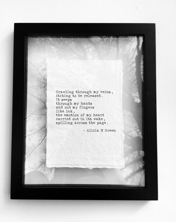 Writer Gifts for Writers Literary Gifts Poetry Print Quotes on Writing  Typography Print by Alicia N Green
