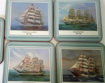 Pimpernel Tall Ships Coasters Set Of 5 Pimpernel Coasters