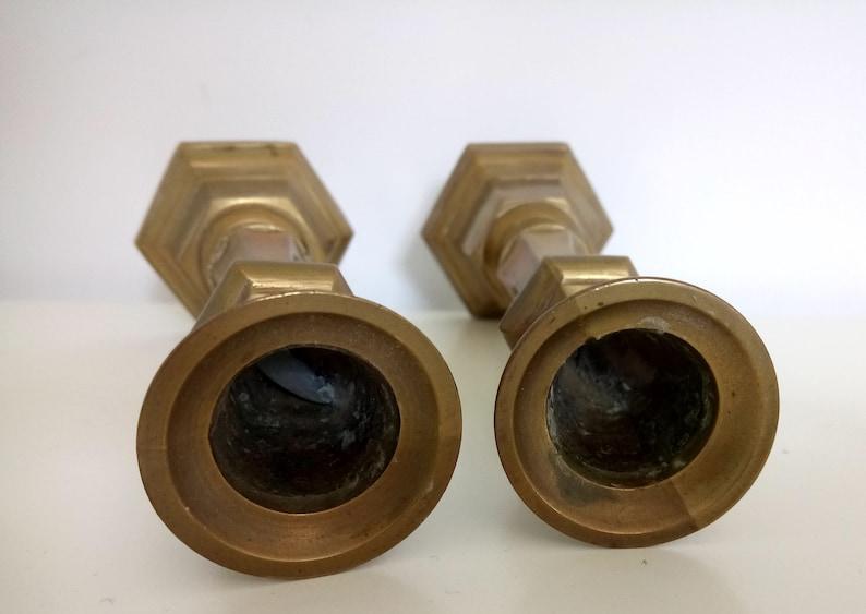 Brass candlestick Set of 2 brass candlesticks 7 brass candleholders
