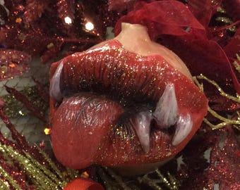 Christmas tree toy, Christmas ball, toothed ball, latex