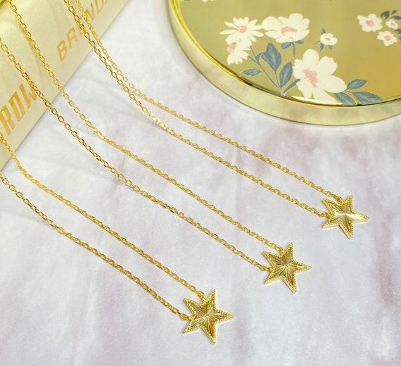 Star Girl Celestial Constellation Gold Pendant Necklace