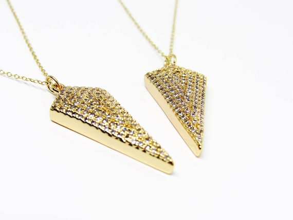 Flo Necklace Spear Arrow Gold Plated