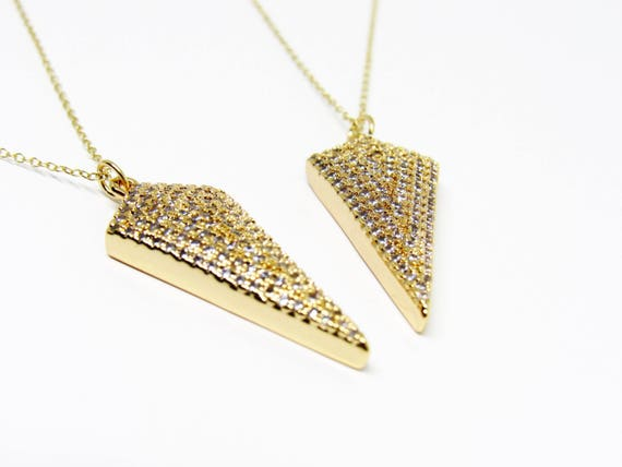 Flo Necklace | Spear | Arrow |  Gold Plated