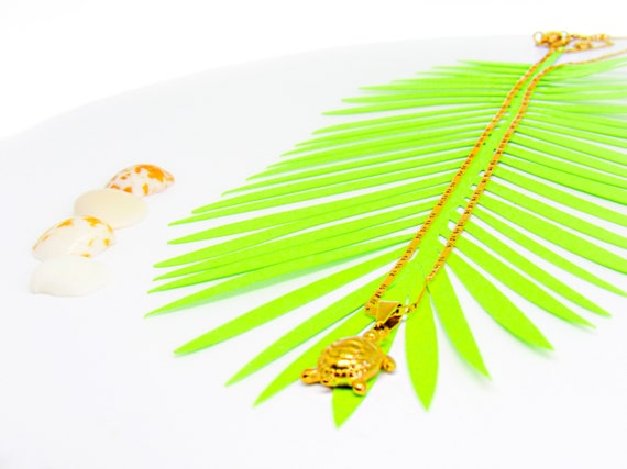 Gold Turtle Charm Necklace Meaningful Jewelry