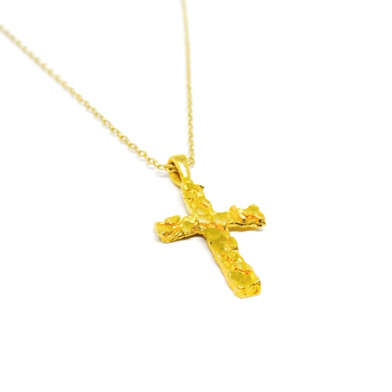 Divine Cross | Gold Necklace | Crucifix | Holy | Religious Jewelry