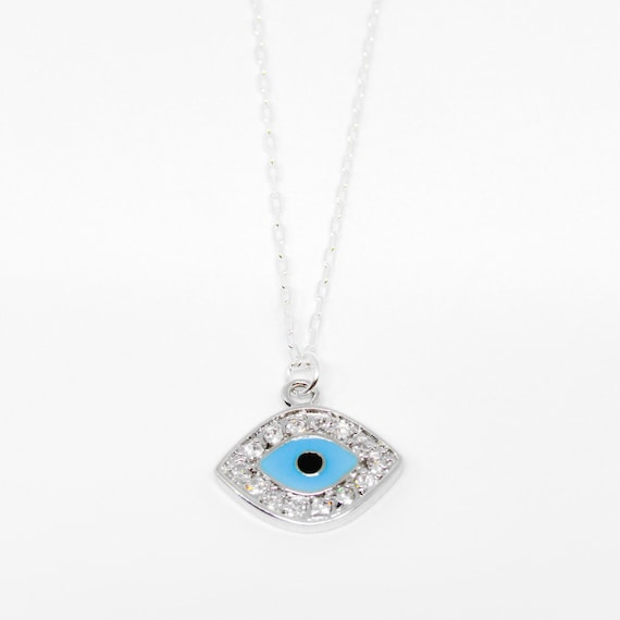 Ojito Necklace | Evil Eye | Eye | Baby Blue | 925 Sterling Silver | collares con ojitos