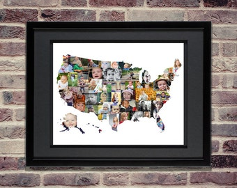 United States Map Etsy - United states map picture frame