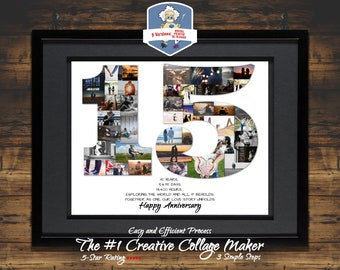15th Anniversary Gift Birthday 15 Year Ideas Photo Collage Personalized