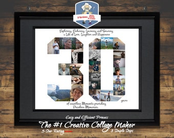 30th Birthday Anniversary Gift For Her Him Decor Ideas Photo Collage