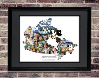Canada Photo Collage | Canadian Art | Canadian Maps | Canadian Wall Art | Canada Gift | Canada Map Art | Canada Print | Canada Home